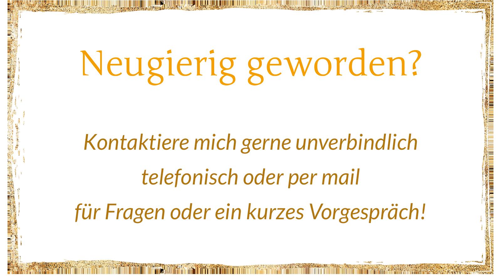 Button mit Aufruf zur Kontaktaufnahme Renate Kieninger
