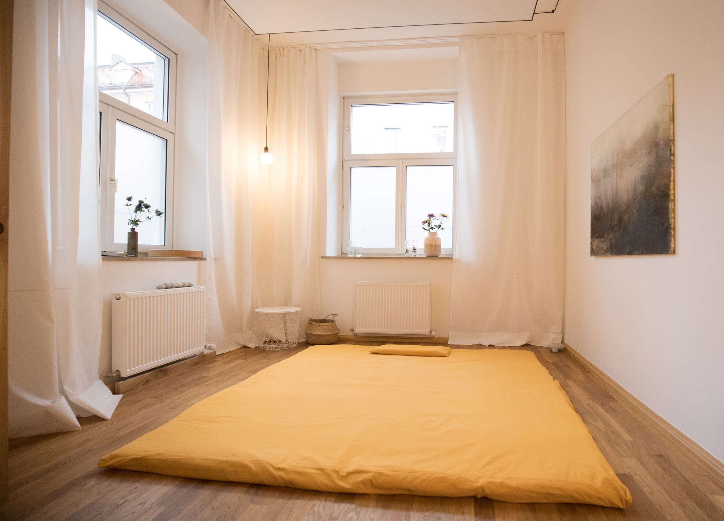Studio Ygia, München, Raum mit Matte für Körperarbeit/bodywork